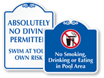 Decorative Pool Signs