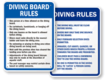Diving Board Signs
