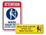 Foot Wash Signs