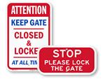 Keep Gates Closed Signs