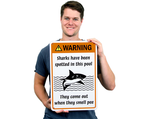 No Peeing In Pool  Warning Signs