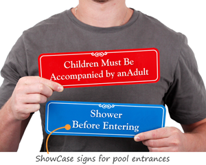 Pool Instruction Signs