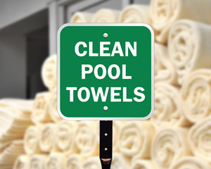 Pool towel signs