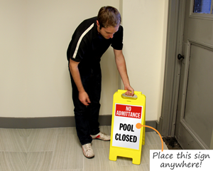 Portable pool signs