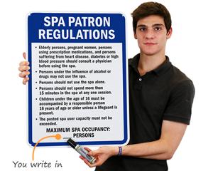 Spa regulation sign
