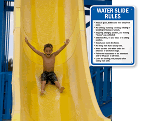Water Slide Rules Signs