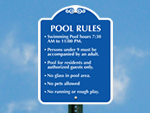 More Pool Hours Signs