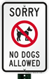 Find More No Dogs Signs