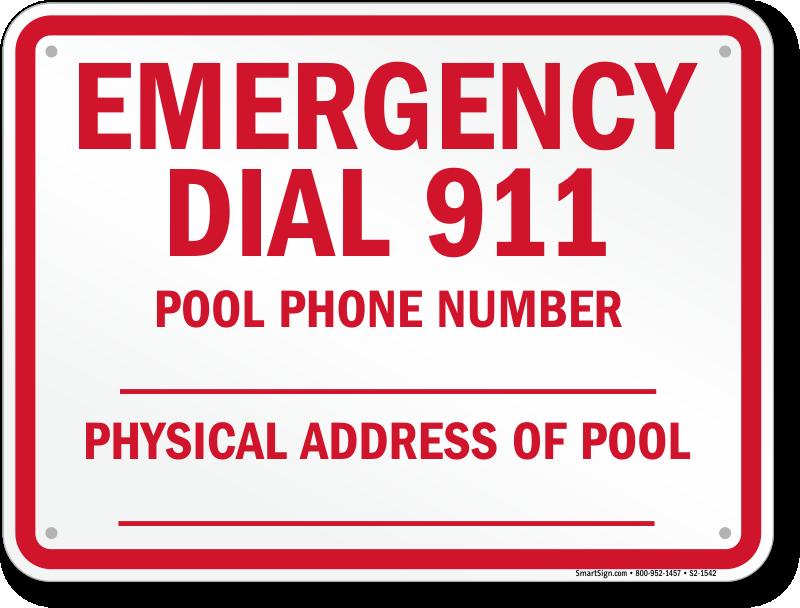 North Carolina Emergency Dial 911 Sign Sku S2 1542