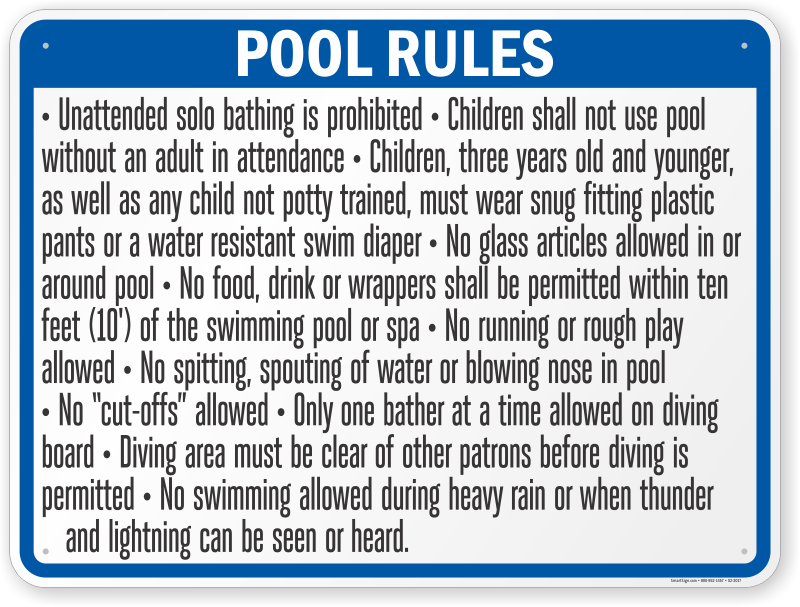 Georgia Swimming Pool Signs