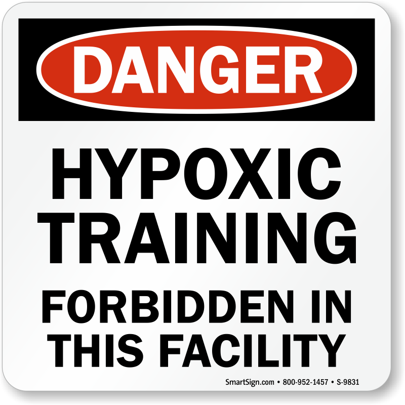 Fitness Center Rules Aluminum Sign Square Shape Free: Danger Hypoxic Training Forbidden In This Facility Pool