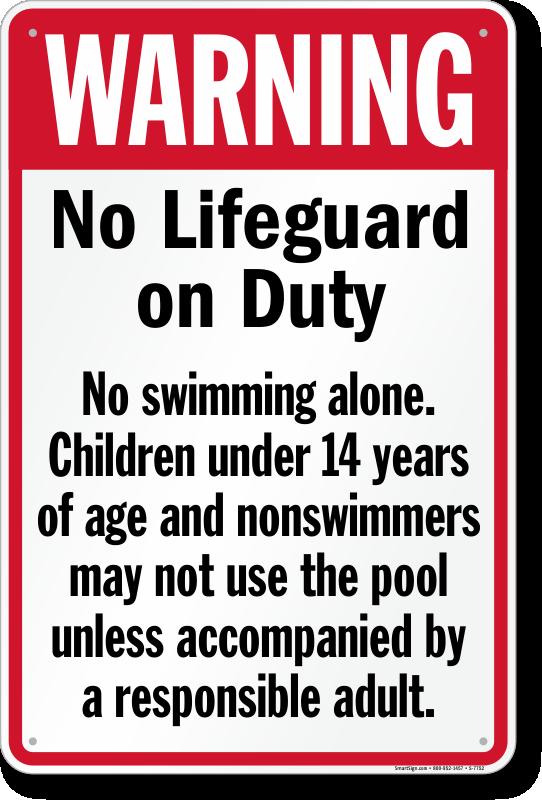 California swimming pool signs Lifeguard regulations for swimming pools