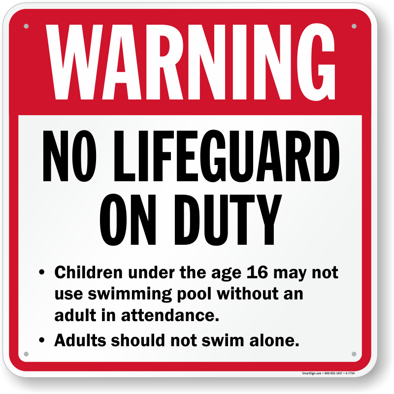 Massachusetts Swimming Pool Signs
