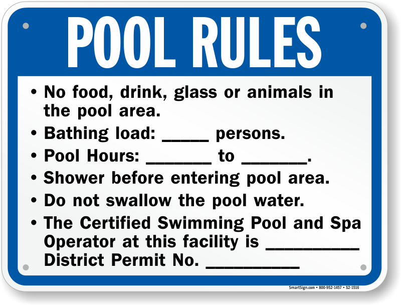 Washington D C Swimming Pool Signs