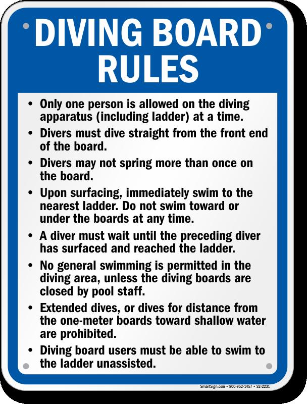 Texas Swimming Pool Signs