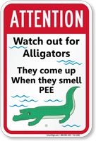 Do Not Pee In Pool, Humorous Sign