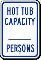 Hot Tub Capacity Sign