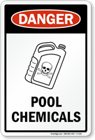 Danger Pool Chemicals Sign Free Shipping On 25 Orders Sku S 7101