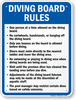 Diving Board Rules Sign