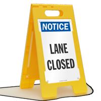 Lane Closed Notice Standing Floor Sign