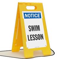 Swim Lesson Standing Floor Notice Sign