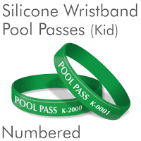 Kids Silicone Wristband Pool Pass, Green