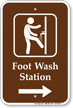 Foot Wash Station Direction Right Sign