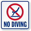 No Diving Texas Sign