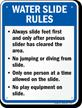 Water Slide Rules Sign for Arkansas