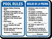 Bilingual Pool Rules, Timings, Maximum Occupancy Sign