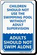 Children Swimming Pool Sign