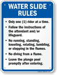 Water Slide Rules Sign for Indiana