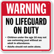 No Lifeguard On Duty Sign for Massachusetts