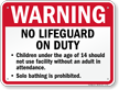 No Lifeguard On Duty Sign for Nevada