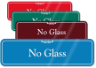 No Glass Pool Rules ShowCase Wall Sign