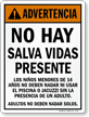 Advertencia No Hay Salva Vidas Presente Spanish Sign