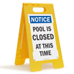 Notice Pool Is Closed Floor Sign