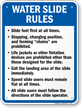 Water Slide Rules Sign for Ohio