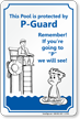 Pool Protected by P Guard Sign