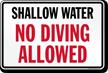 No Diving Sign for South Carolina