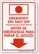 Emergency Spa Shut Off (Bilingual)