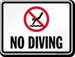 No Diving Sign for Arizona, Arkansas, California & Florida