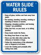 Water Slide Rules Sign
