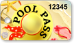 Pool Pass In Rectangular Shape, Fun On Beach