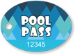 Pool Pass Bubbles Tag In Oval Shape