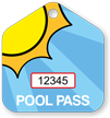 Pool Passes In House Shape, Sunrise Tag