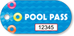 Pool Pass In Oblong Circle Shape, Swim Rings