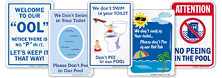 Funny No Peeing In Pool Signs