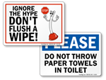 Do Not Throw Towels into Toilet