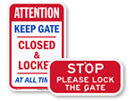 Keep Gates Closed Signs